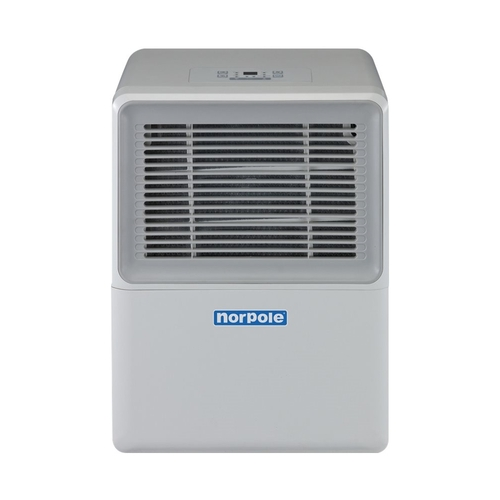 Norpole - 30-Pint Portable Dehumidifier - Gray Includes drain hose connection2.9 ampsFull bucket indicator; refrigerant leak detectionAdjustable humidistat; turbo mode