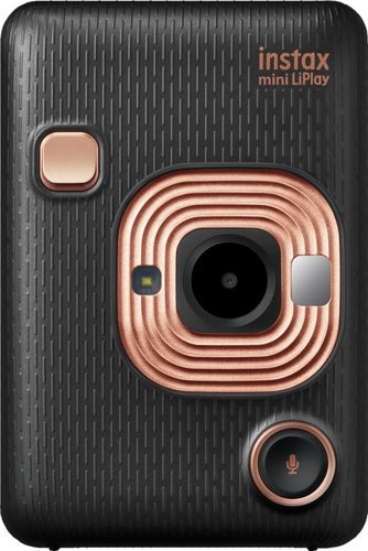 Fujifilm Instax Hybrid Mini LiPlay Instant Camera, Elegant Black