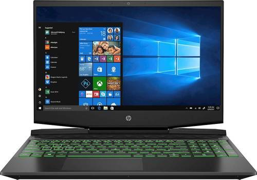 HP Pavilion 15 Series 15.6u0022 Gaming Laptop Intel Core i5 8GB RAM 256GB SSD Shadow Black & Green Chrome - 9th Gen i5-9300H Quad-core