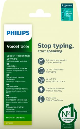Philips VoiceTracer Speech Recognition Software