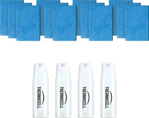 Thermacell - Mosquito Repellent Refill Kit - White/Blue Works with most Thermacell fuel-powered repellers; 15' zone of protection; d-cis/trans allethrin active ingredient; scent- and DEET-free