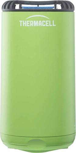 Thermacell - Patio Shield Mosquito Repeller - Greenery Thermacell fuel-powered technology; 15' zone of protection; d-cis/trans allethrin active ingredient; scent- and DEET-free; includes integrated mat storage
