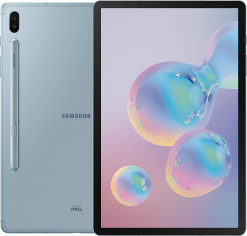 Samsung Galaxy Tab S6 SM-T860 Tablet - 10.5u0022 - 6 GB RAM - 128 GB Storage - Android 9.0 Pie - Cloud Blue - Qualcomm SDM855 Snapdragon 855 SoC
