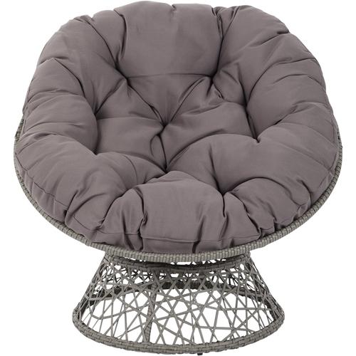 OSP Designs - Papasan Polyester Chair - Gray