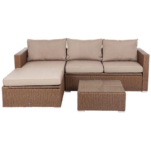 Patio Sense - Wicker 2 Piece Furniture Set - Mocha