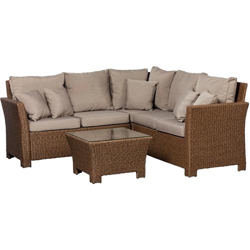 Patio Sense - Resin Wicker 2 Piece Furniture Set - Mocha