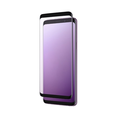 zNitro - Tempered Glass Screen Protector for Samsung Galaxy S9+ - Black/Clear