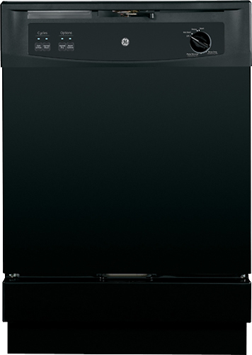 "GE - 25"" Convertible Portable Dishwasher - Black"