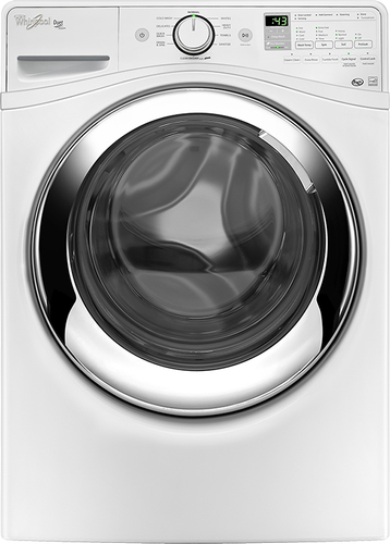 Whirlpool - Duet 4.3 Cu. Ft. 10-Cycle High-Efficiency Steam Front-Loading Washer - White