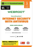 Webroot Internet Security + Antivirus 2018 (3-Device) (6 Month Subscription) - Android|Windows|iOS [Digital]