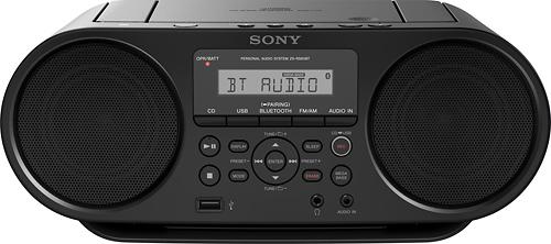 Sony - CD Boombox - Black...