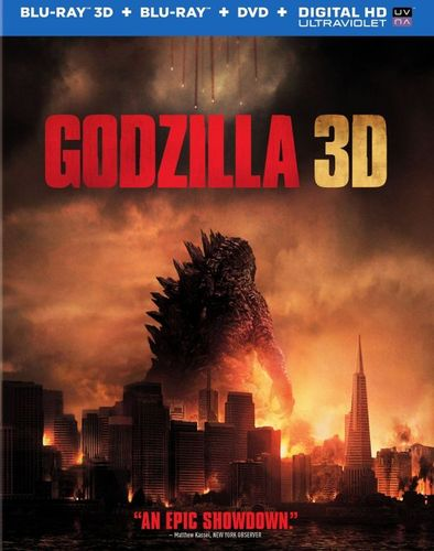 Godzilla 3D [Includes Digital Copy] [Ultraviolet] [3D] [Blu-ray/DVD] [Blu-ray/Blu-ray 3D/DVD] [2014] 6435036