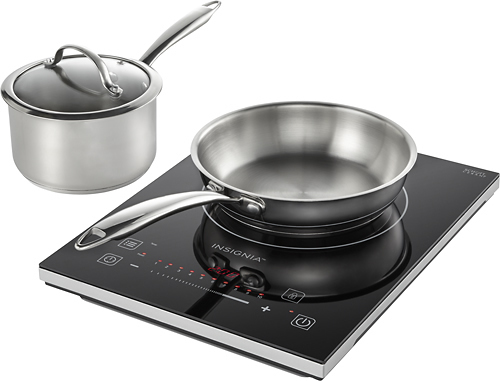 Insignia™ - 4-Piece Induction Cooktop Set - Black