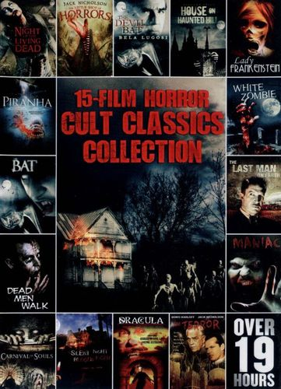 15-Film Horror Cult Classics Collection [3 Discs] [DVD]