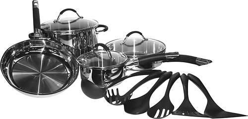 Cuisinart - Pro Classic 13-Piece Stainless-Steel Cookware Set - Stainless-Steel