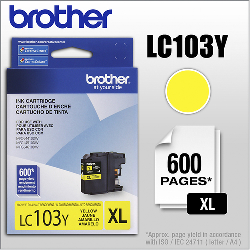 Brother - LC103Y XL High-Yield...
