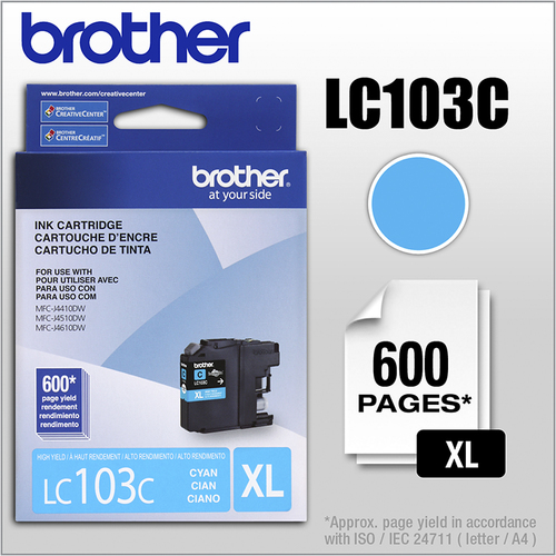 Brother - LC103C XL High-Yield...