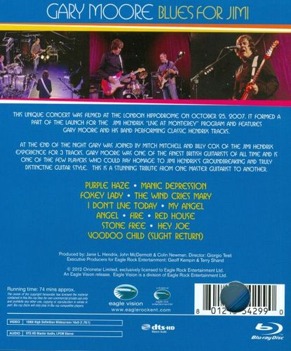 Blues for Jimi: Live in London [Blu-Ray] [Blu-Ray Disc] 6633622
