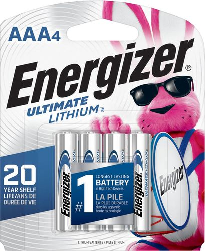 Energizer - Ultimate Lithium AAA Batteries (4-Pack)