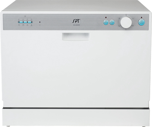 "SPT - 22"" Countertop Dishwasher - White"