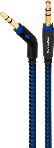 Image of AudioQuest - WolfWire 3' 3.5mm Stereo Audio Cable - Black/Blue