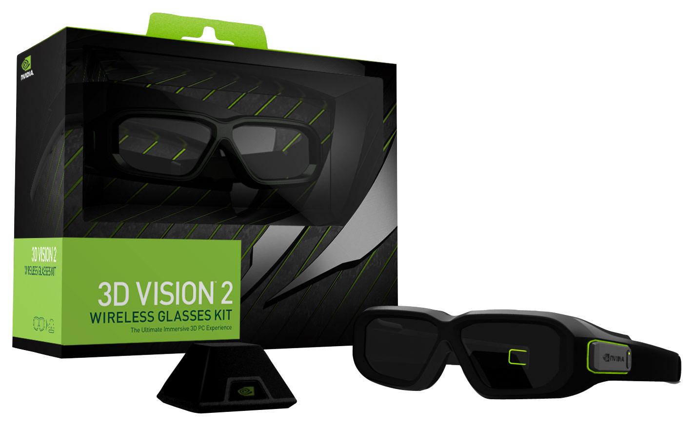 NVIDIA - 3D Vision 2 Wireless 3D Glasses - Black 6761832