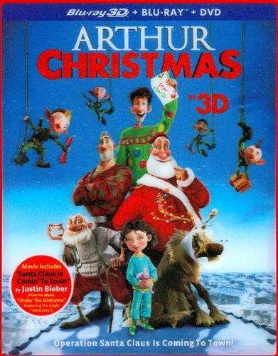 Arthur Christmas [3 Discs] [Includes Digital Copy] [UltraViolet] [3D] [Blu-ray/DVD] [Blu-ray/Blu-ray 3D/DVD] [2011] 6847067