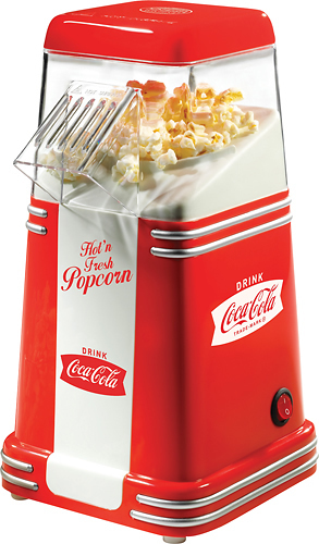 Nostalgia Electrics - 8-Cup Coca-Cola Series Mini Hot Air Popcorn Popper - Red 6901074