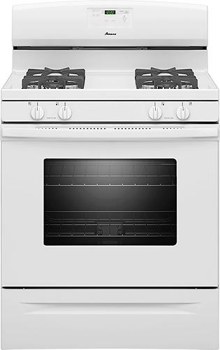 "Amana 30"" Self-Cleaning Freestanding Gas Range White AGR5630BDW"