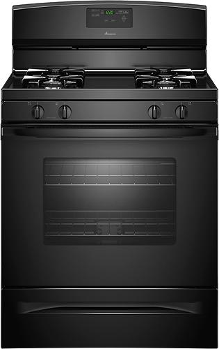"""Amana 30"""" Self-Cleaning Freestanding Gas Range Black AGR5630BDB"""