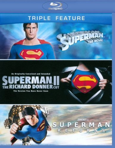 Superman: The Movie/The Superman II: The Richard Donner Cut/Superman Returns [3 Discs] [Blu-ray] 6934294