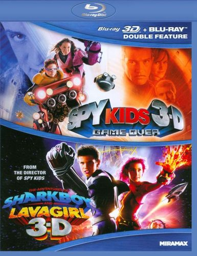 Spy Kids 3-D: Game Over/The Adventures of Sharkboy and Lavagirl 3-D [2 Discs] [3D] [Blu-ray] [Blu-ray/Blu-ray 3D] 6958266