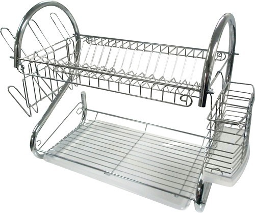 "Better Chef 16"" Chrome Dish Rack Chrome 91575780M"