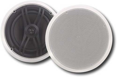 Yamaha - 2-Way In-Ceiling Speakers (Pair) - White