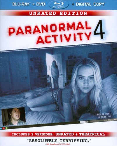 Paranormal Activity 4 [Unrated Director's Cut] [Blu-ray/DVD] [Includes Digital Copy] [Ultraviolet] [2012] 7056081