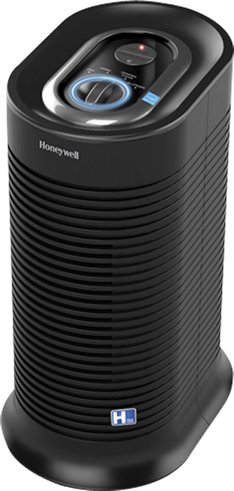 Honeywell - True Compact Tower Air Purifier - Black