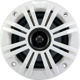 """KICKER - KM 4"""" 2-Way Coaxial Marine Speaker with Injection-Molded Polypropylene Cone (Pair) - Charcoal/White"""