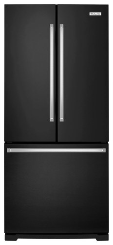 KitchenAid - 19.6 Cu. Ft. French Door Refrigerator - Black