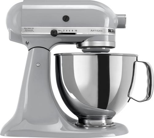 KitchenAid - KSM150PSMC Artisan Series Tilt-Head Stand Mixer - Metallic Chrome