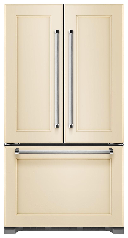 KitchenAid - 21.9 Cu. Ft. Counter-Depth French Door Refrigerator - Custom Panel Ready
