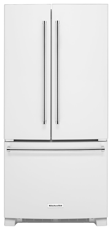 KitchenAid - 22.1 Cu. Ft. French Door Refrigerator - White