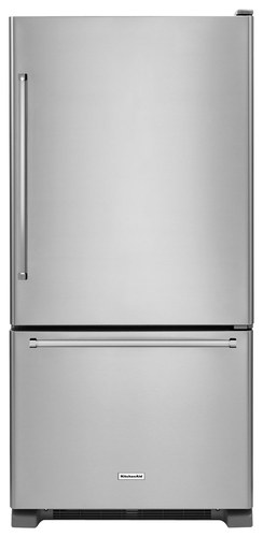 KitchenAid - 18.7 Cu. Ft. Bottom-Freezer Refrigerator - Stainless steel