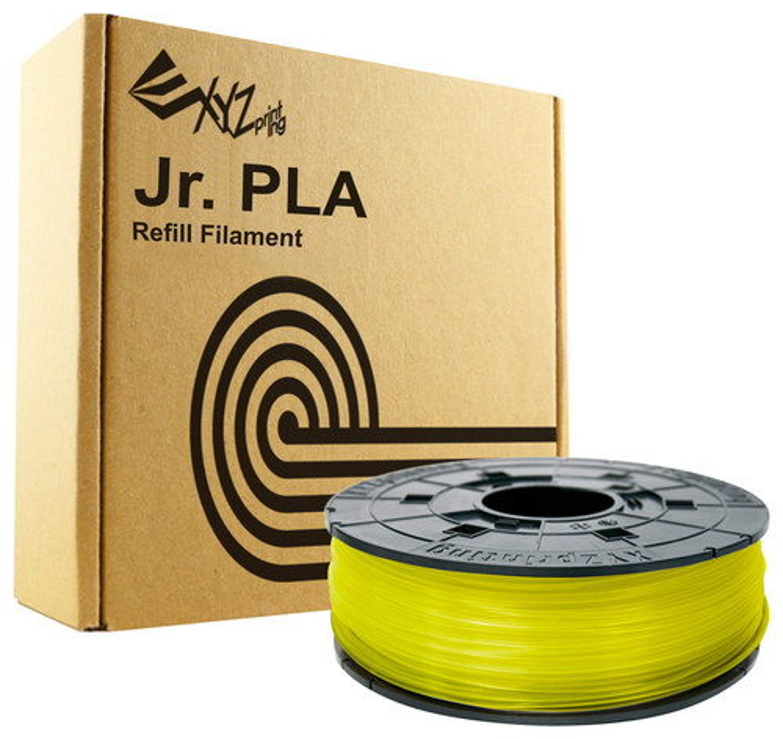 XYZprinting - 1.75mm PLA Filament for Select XYZ Printing da Vinci Jr. 3D Printers - Clear Yellow