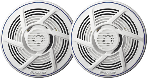 "Pioneer - Nautica 6-1/2"" 2-Way Marine Speakers w/Water-Resistant IMPP Cones (Pair) - White"