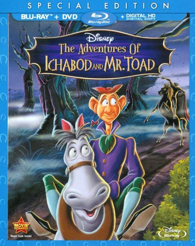 The Adventures of Ichabod and Mr. Toad [2 Discs] [Blu-ray/DVD] [1949] 7620112