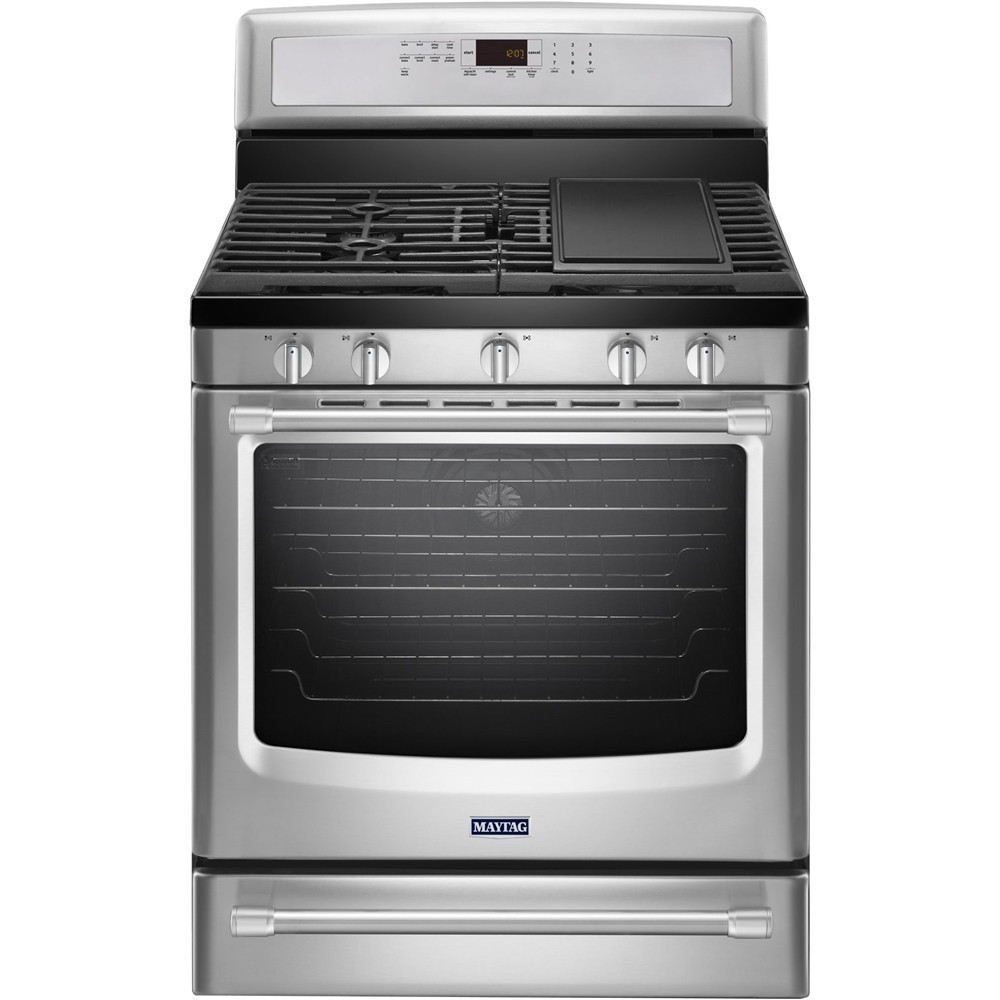 Maytag 5.8 Cu. Ft. Self-Cleaning Freestanding Gas Convection Range Stainless steel MGR8800DS