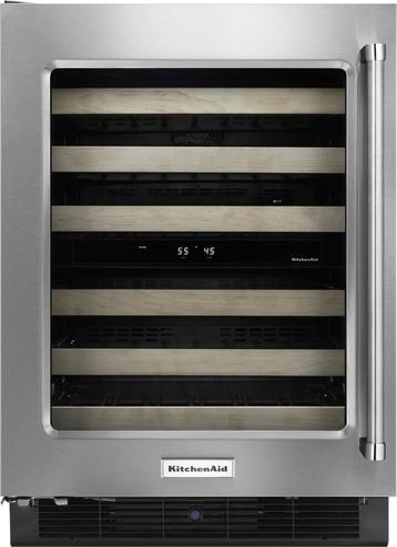 KitchenAid - 46-Bottle Wine Cellar - Stainless steel