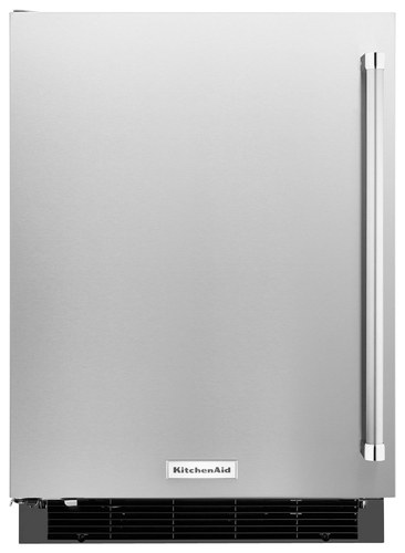 KitchenAid - 4.9 Cu. Ft. mini fridge - Stainless steel