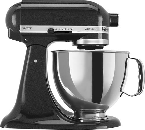 KitchenAid - KSM150PSCV Artisan Series Tilt-Head Stand Mixer - Caviar