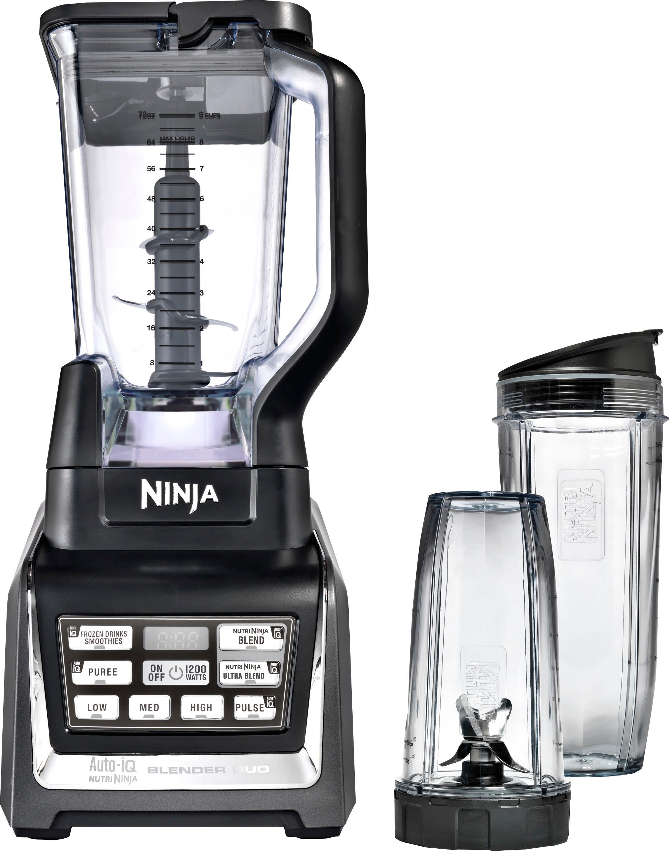 Ninja - Nutri Ninja 72-Oz. Blender Duo with Auto IQ - Black/Silver